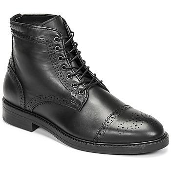 Zapatos Hombre Botas de caña baja Selected BROGUE Negro