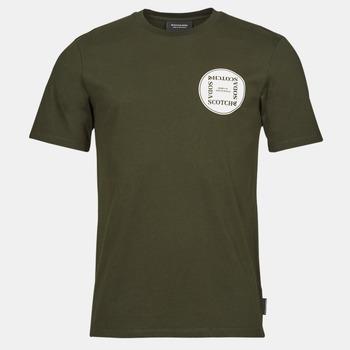textil Hombre Camisetas manga corta Scotch & Soda GRAPHIC LOGO T-SHIRT Kaki