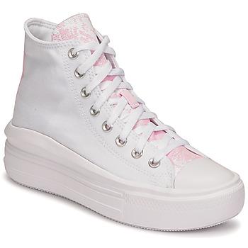 Zapatos Mujer Zapatillas altas Converse CHUCK TAYLOR ALL STAR MOVE HYBRID FLORAL HI Blanco
