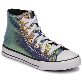 Zapatos Niña Zapatillas altas Converse CHUCK TAYLOR ALL STAR IRIDESCENT GLITTER HI Plata