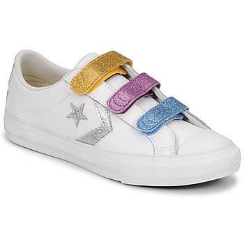 Zapatos Niña Zapatillas bajas Converse STAR PLAYER 3V GLITTER TEXTILE OX Blanco / Multicolor