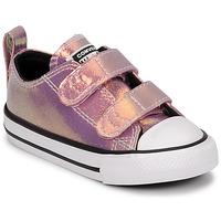 Zapatos Niña Zapatillas bajas Converse CHUCK TAYLOR ALL STAR 2V IRIDESCENT GLITTER OX Rosa