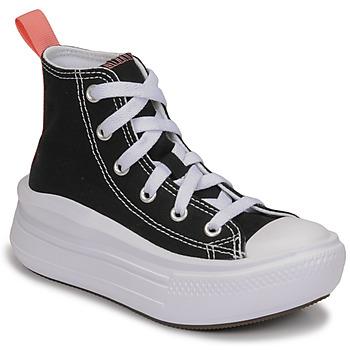 Zapatos Niña Zapatillas altas Converse CHUCK TAYLOR ALL STAR MOVE CANVAS HI Negro / Rosa