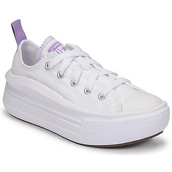 Zapatos Niña Zapatillas bajas Converse CHUCK TAYLOR ALL STAR MOVE CANVAS OX Blanco / Rosa