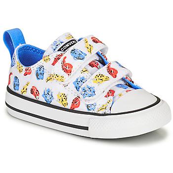 Zapatos Niños Zapatillas bajas Converse CHUCK TAYLOR ALL STAR 2V DINO DAZE OX Blanco / Verde / Naranja