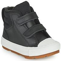 Zapatos Niños Zapatillas altas Converse CHUCK TAYLOR ALL STAR BERKSHIRE BOOT SEASONAL LEATHER HI Negro