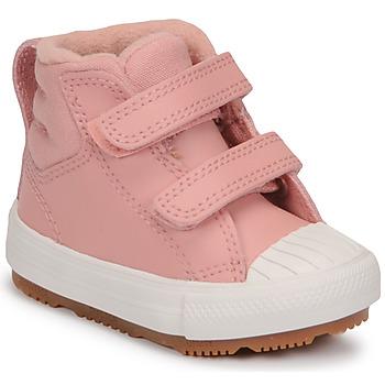Zapatos Niña Zapatillas altas Converse CHUCK TAYLOR ALL STAR BERKSHIRE BOOT SEASONAL LEATHER HI Rosa