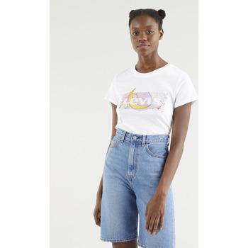 textil Hombre Camisetas manga corta Levi's Strauss CAMISETA PERFECT LEVIS MUJER Blanco