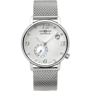 Relojes & Joyas Mujer Relojes analógicos Zeppelin 7631M-1, Quartz, 35mm, 5ATM Plata