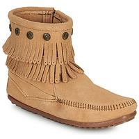 Zapatos Mujer Botas de caña baja Minnetonka DOUBLE FRINGE SIDE ZIP BOOT Marrón