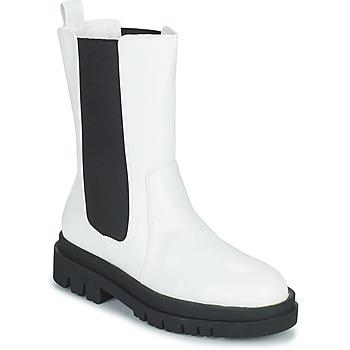 Zapatos Mujer Botas de caña baja Moony Mood PAULA Blanco