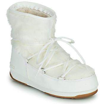 Zapatos Mujer Botas de nieve Moon Boot MOON BOOT MONACO LOW FUR WP 2 Blanco