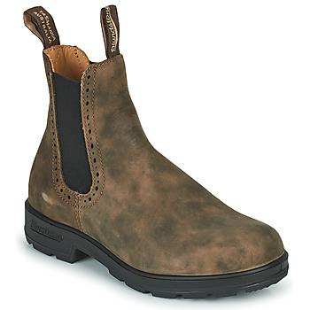 Zapatos Mujer Botas de caña baja Blundstone ORIGINAL HIGH TOP CHELSEA BOOTS 1351 Marrón