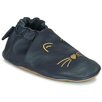 Zapatos Niña Pantuflas para bebé Robeez GOLDY CAT Marino