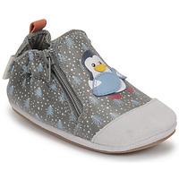 Zapatos Niño Pantuflas para bebé Robeez BLUE PINGUINS Gris