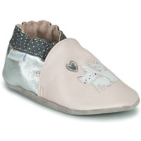 Zapatos Niña Pantuflas para bebé Robeez CAT FRIENDS Rosa / Plata