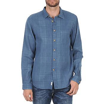textil Hombre camisas manga larga Façonnable JJMCT502000ERE Azul