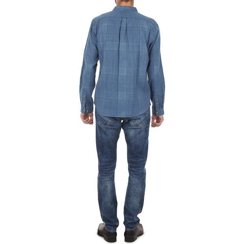 Azul Manga Jjmct502000ere Façonnable Hombre Camisas Larga Textil dWrxCeBo