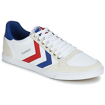 Zapatos Zapatillas bajas Hummel TEN STAR LOW CANVAS Blanco / Rojo / Azul