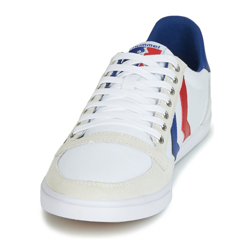 Ten BlancoRojo Star Hummel Azul Canvas Low b29YHeEDWI