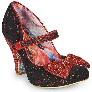 Zapatos Mujer Zapatos de tacón Irregular Choice FANCY THAT Negro / Rojo