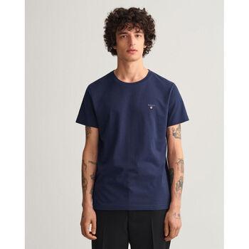 textil Hombre Camisetas manga corta Gant Camiseta Original Azul