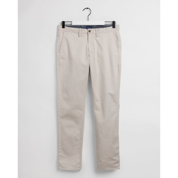 textil Hombre Pantalones Gant Pantalones chinos Slim Fit de sarga Beige