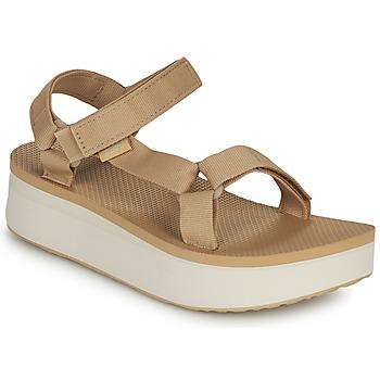 Zapatos Mujer Sandalias Teva Flatform Universal Beige / Blanco