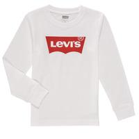 textil Niño Camisetas manga larga Levi's L/S BATWING TEE Blanco