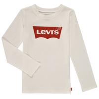 textil Niña Camisetas manga larga Levi's LS BATWING TEE Blanco