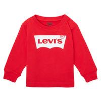 textil Niño Camisetas manga larga Levi's L/S BATWING TEE Rojo