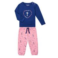 textil Niña Conjunto Guess ANISSA Rosa / Azul