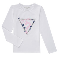 textil Niña Camisetas manga larga Guess MONICA Blanco