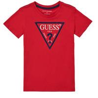 textil Niño Camisetas manga corta Guess THOLMA Rojo