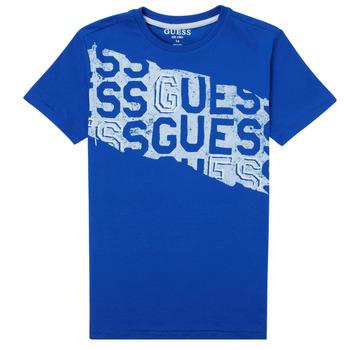 textil Niño Camisetas manga corta Guess LISTIN Azul