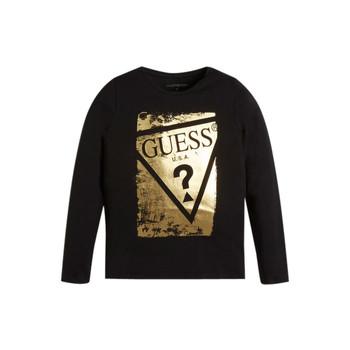 textil Niña Camisetas manga larga Guess UPSET Negro
