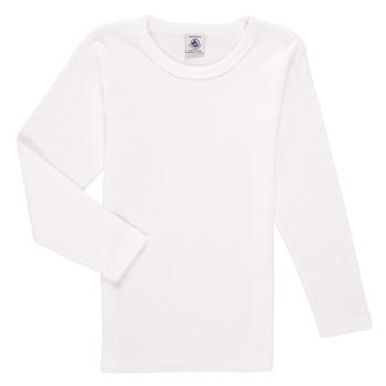 textil Niño Camisetas manga larga Petit Bateau KELOMA Blanco