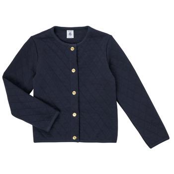 textil Niña Chaquetas de punto Petit Bateau COLYNNE Azul