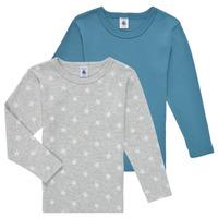 textil Niño Camisetas manga larga Petit Bateau HOQUIN Multicolor