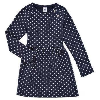 textil Niña Vestidos cortos Petit Bateau KARREMA Azul / Blanco