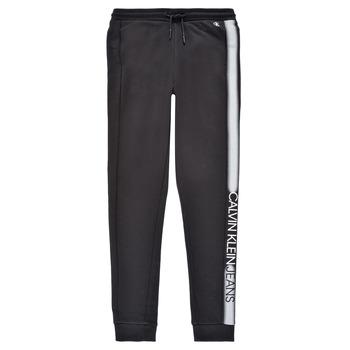textil Niño Pantalones de chándal Calvin Klein Jeans RESPIRA Negro