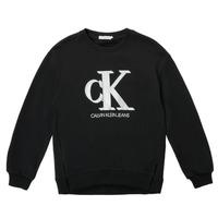 textil Niña Sudaderas Calvin Klein Jeans POLLI Negro