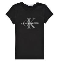textil Niña Camisetas manga corta Calvin Klein Jeans VOYAT Negro