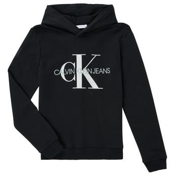 textil Niños Sudaderas Calvin Klein Jeans TRINIDA Negro