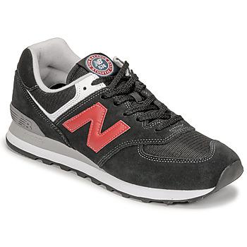 Zapatos Hombre Zapatillas bajas New Balance 574 Negro / Rojo