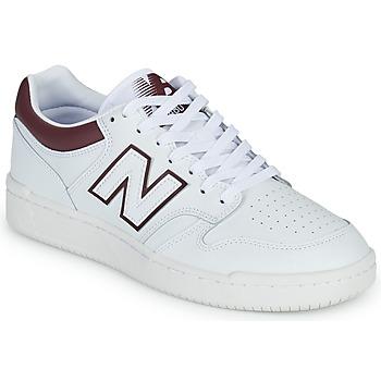 Zapatos Hombre Zapatillas bajas New Balance 480 Blanco / Burdeo