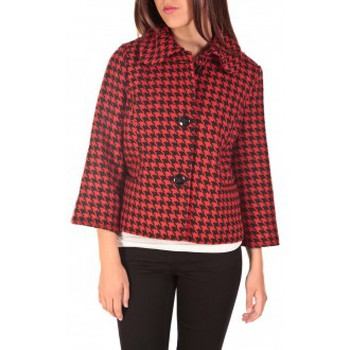 textil Mujer cazadoras Vero Moda ODA Short Jacket Noir/Rouge Negro