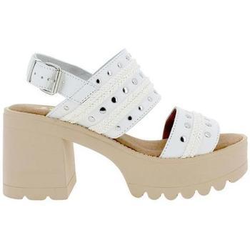 Zapatos Mujer Sandalias Blogger NEW-CLAUDIA blanco