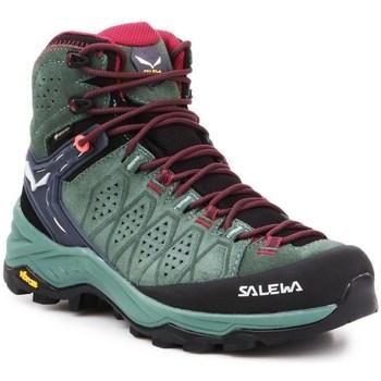 Zapatos Mujer Senderismo Salewa WS Alp Trainer 2 Mid Gtx Negros, Verdes