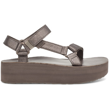 Zapatos Mujer Sandalias Teva Flatform Universal Leather Women's Metallic Bronze